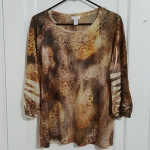 Chicos tops size 2 blouse